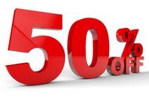 50 pour cent Photo libre de droits