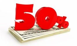 50 pour cent Photographie stock libre de droits