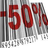 50 prętowego kodu rabat Fotografia Stock