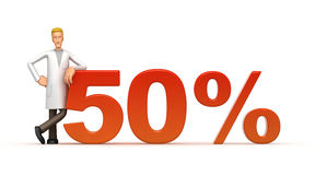 50 procentów Obrazy Royalty Free