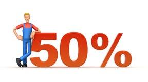 50 procentów ilustracja wektor