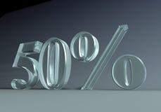 50 procentów Fotografia Royalty Free