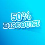 50 Prozent Rabatt-Aufkleber Stockbilder