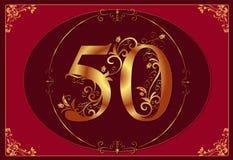 50 rocznic urodzinowy szczęśliwy jubileusz Zdjęcie Stock