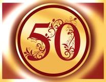 50 rocznic urodzinowy szczęśliwy jubileusz Fotografia Royalty Free