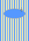 50's Retro Blueberries & Cream Candy Stripes. 1950's retro candy stripes design with copyspace Stock Photos