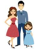 50 `s stylowa rodzina Fotografia Royalty Free