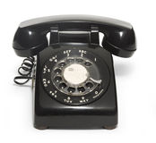 50's Telephone. Black 1950's telephone on a white background