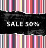 50% sale background. A 50% sale background design Stock Images