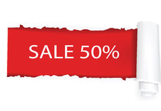 A 50% sale background design. Vector illustration Royalty Free Stock Photos