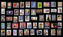 50 sellos de personalidades Fotografía de archivo libre de regalías
