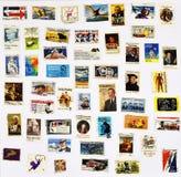 50 selos diferentes dos Estados Unidos Foto de Stock Royalty Free