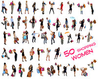 50 Shopping Women Stock Images