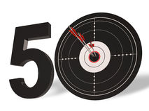 50 Target Shows Golden Anniversary Fifty Years. 50 Target Showing Golden Anniversary Fifty Years Vector Illustration