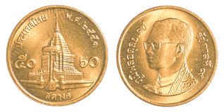 50 thai baht satang coin Stock Images