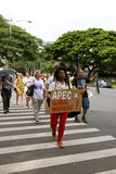 50 upptar anti apec honolulu protest Royaltyfri Fotografi