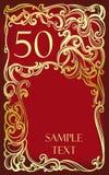 50 verjaardag, jubileum, Gelukkige verjaardag Stock Afbeeldingen