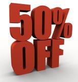 50% weg royalty-vrije illustratie