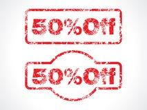 50% weg vom grunge Stempel Stockfoto