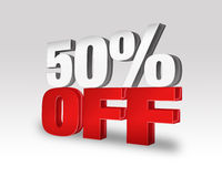 50% WEG vom Rabatt-Angebot stock abbildung