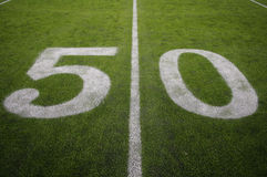 The 50 Yard Line Royalty Free Stock Photos