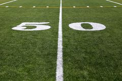 50 Yard  Line Stock Photography