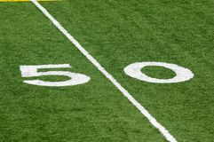 50 Yard line Stock Images