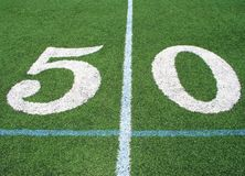 50 Yard Line Royalty Free Stock Photos
