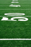 50 Yard Line On American Football Field Stock Images