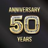 50 Years Anniversary Golden Card Stock Photo