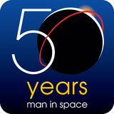 50 years man in space Stock Image