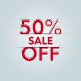 50% z sprzedaży Obrazy Stock