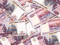 500个背景货币堆卢布俄语 免版税库存照片