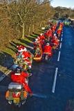 500个限定范围运行圣诞老人 图库摄影