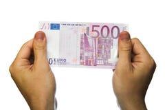 500家银行欧元附注 库存照片