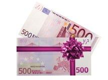 500张钞票欧元 库存照片