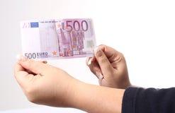 500欧元 免版税库存图片