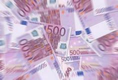 500 ευρώ θαμπάδων σημειώνει τ&e Στοκ φωτογραφία με δικαίωμα ελεύθερης χρήσης