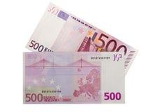 500 ευρώ Στοκ φωτογραφία με δικαίωμα ελεύθερης χρήσης