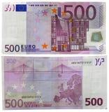 500 ευρώ Στοκ Εικόνα