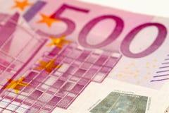 500 ευρώ Στοκ φωτογραφίες με δικαίωμα ελεύθερης χρήσης