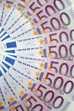 500 ευρώ Στοκ Εικόνες