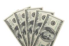 500 долларов Стоковое Изображение RF