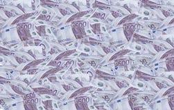 500 евро счетов Стоковые Изображения RF