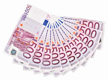 500 примечаний банка дуют евро, котор вне Стоковые Фотографии RF