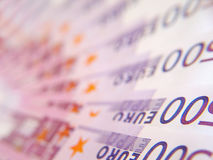 евро 500 счетов Стоковые Фото
