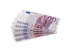 500 евро Стоковая Фотография