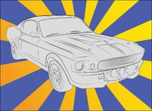 500 1967 shelby eleanor gt Arkivbild
