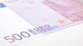 500欧元笔记细节 图库摄影