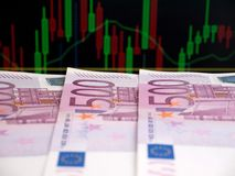 500 кредиток евро Стоковое фото RF